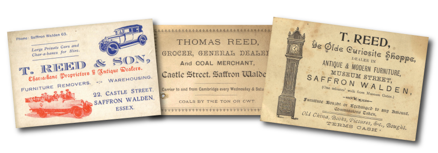Reed and Son Business cards